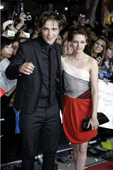 "Robert Pattinson and Kristen Stewart at the ""Twilight"" premiere (AP Photo)"