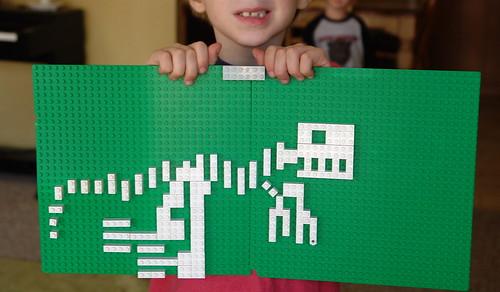 T Rex (in Legos)