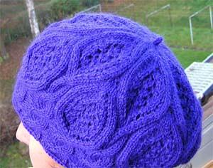 lila Mütze