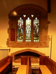 Memorial window and effigy- Ladbroke