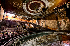 Applause from the Balcony (Brian Truono Photography) Tags: old urban rotting theater chairs theatre decay balcony queen seats delaware wilmington hdr highdynamicrange featured delawareonline briantruono