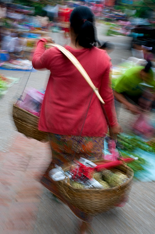 Going to market, Luang Prabang, Laos