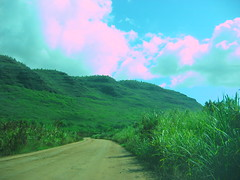Road with Clouds 1 (Nogwater) Tags: broken hawaii kauai ccd