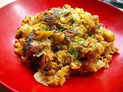 cornbread stuffing @ home