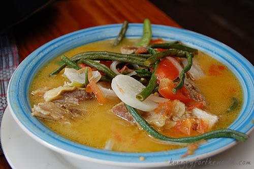 Cafe by the Ruins - Rattan Fruit Beef Sinigang at PhP 275.00