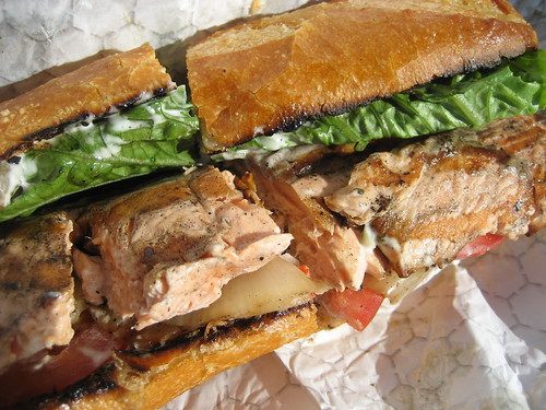 Foodista | Grilled Salmon Sandwiches At Pike Place Market