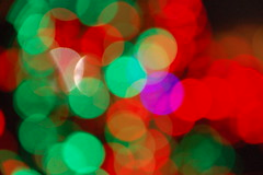 Bokeh dots 4 - Christmas colours