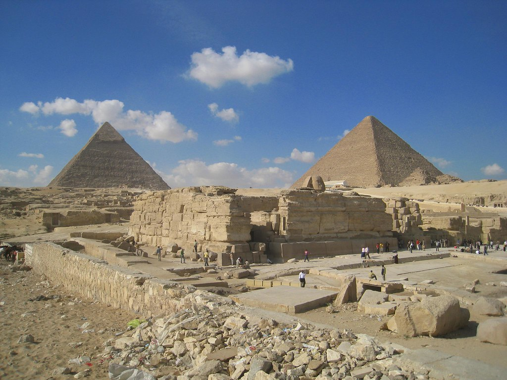 In comparison to the Great Pyramids, The Sphinx is quite small