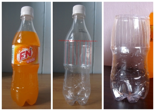 F&N plastic bottle transforming into a vase 2