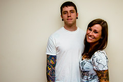 Day 183 of 365 Days of Love! (NEW|photography) Tags: portrait white love ma couple massachusetts newengland tattoos lipring 365 mass piercings plugs gauges sleeves raynham 365project