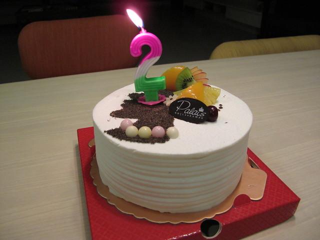 巴蕾麵包的生日蛋糕