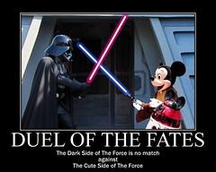 DISNEY STAR WARS WEEKENDS 2011  - Darth Vader vs. Jedi Mickey (DarkJediKnight) Tags: starwars humor fake disney mickeymouse jedi parody lightsaber weekends darthvader sith 2011