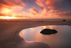 Warmth (@Gking_photo) Tags: longexposure sunset sea england sky seascape beach water clouds landscape photography coast seaside sand cornwall imac explore coastal coastline westcountry rockpool ndfilter explorefrontpage northcottmouth nd110