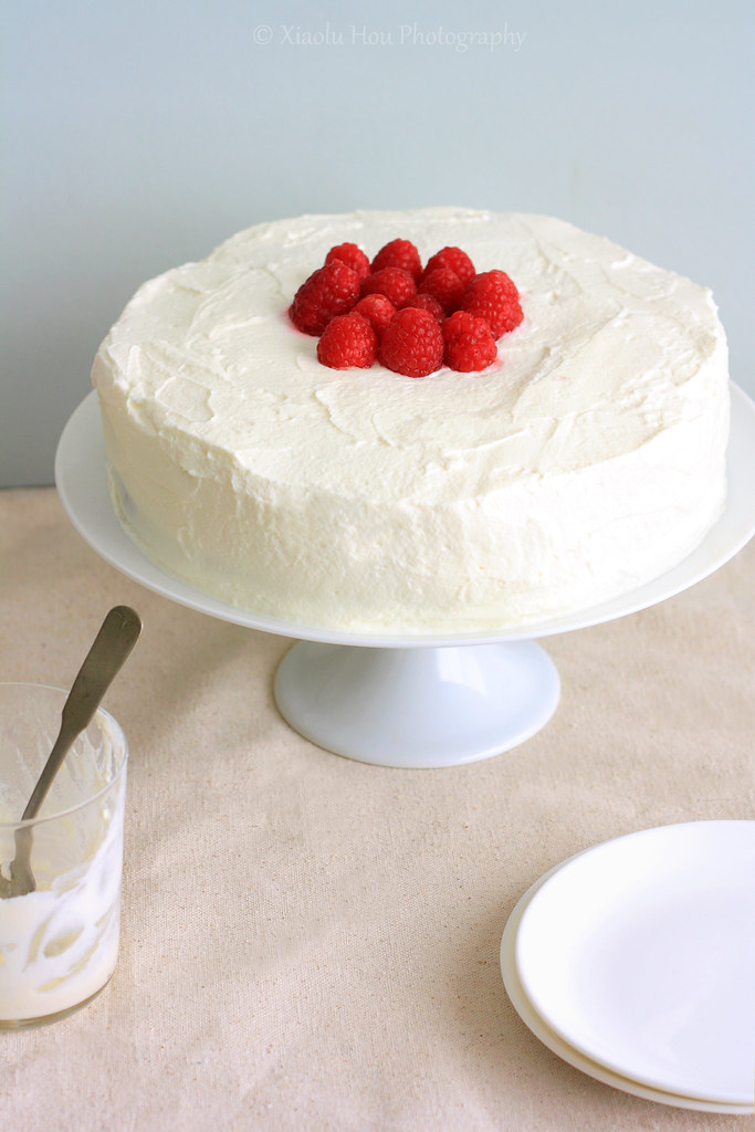 Raspberry Tres Leches Birthday Cake