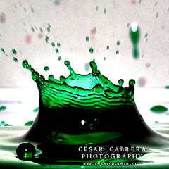 Birthday Splash (Cesar R.) Tags: color verde green water d50 agua nikon drop cesar crown 60mm gota splash nikkor cabrera eow mywinners impressedbeauty superaplus aplusphoto superbmasterpiece cesarr