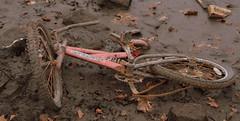 Bike (andy_sunley) Tags: lake bike liverpool fuji s3 seftonpark merseyside drained capitalofculture aigburth liverpool08 fujis3pro liverpoolcapitalofculture2008 seftonparkboatinglake
