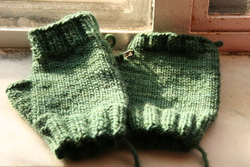 Malabrigo fingerless mitts