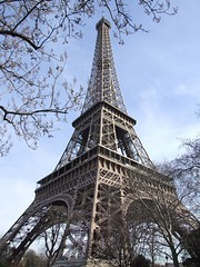 Eiffel Tower (cheesemonster) Tags: abstract paris france lady de la frankreich iron ledefrance pointy angle perspective landmark lookingup toureiffel frankrijk dame francia rp fer   viewfrombelow  rgionparisienne parisregion theironlady ladamedefer  goestoapoint lpengineering afeatofengineering