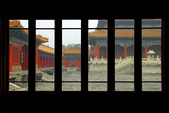 Forbidden City  Caged (... Arjun) Tags: china city urban 15fav window 1025fav 510fav town nikon asia panel framed capital beijing 100v10f unescoworldheritagesite worldheritagesite forbidden caged 2550fav 500v50f frame 50100fav illegal metropolis  d200  forbiddencity 2008 prohibited freetibet banned qingdynasty conurbation  confined illicit municipality lockedup peoplesrepublicofchina palacemuseum imprisoned mingdynasty notallowed metropolitian enslaved outlawed 27mm mainlandchina inprison 74points incarcerated 18200mmf3556g bluelist platinumphoto