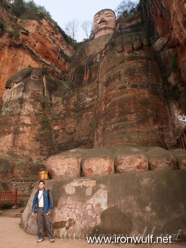 Leshan Giant Buddha Foot and Me