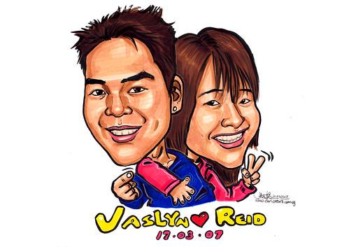 Caricatures Jaslyn & Reid A4