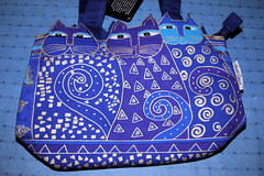 Snazzy Laurel Burch handbag