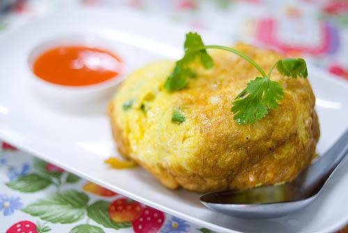 Omelet with crab, Krua Apsorn, Bangkok