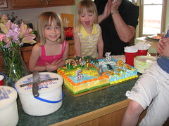Cake (TheStaceys1) Tags: birthday girls party two 3 cake nemo 5 may madagascar sided
