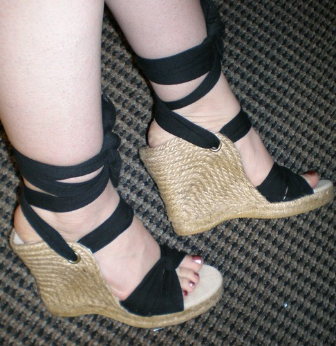 ON lace up wedges 2