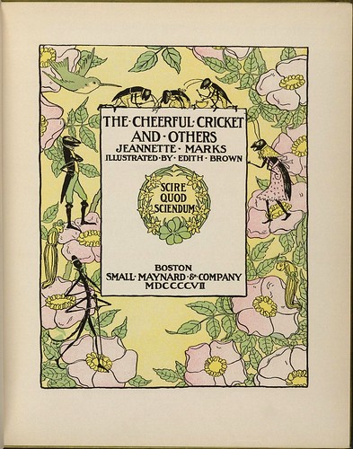 The Cheerful Cricket - Jeannette Marks + illust. Edith Brown 1907