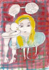 131 (Debbie Harman) Tags: rabbit graphicnovel cartoons pockets checks caterpiller aliceintartland debbieharman drawingsalice alicedrawings