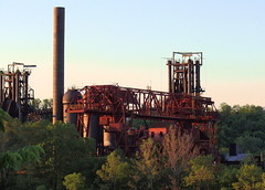 the carrie furnace (leafy) Tags: sunset industry river steel pa homestead carrie furnace ussteel monongahela rankin braddock historiclandmark carriefurnace