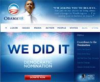 Web de la campaña de Obama