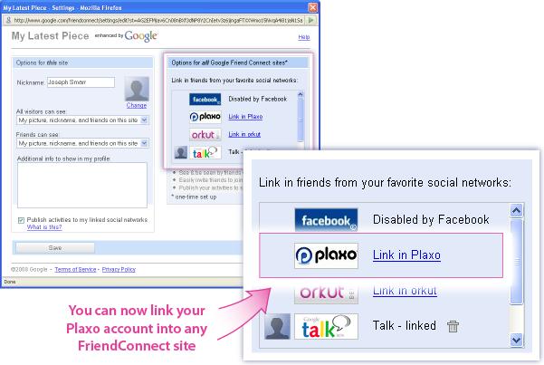Plaxo in FriendConnect #1