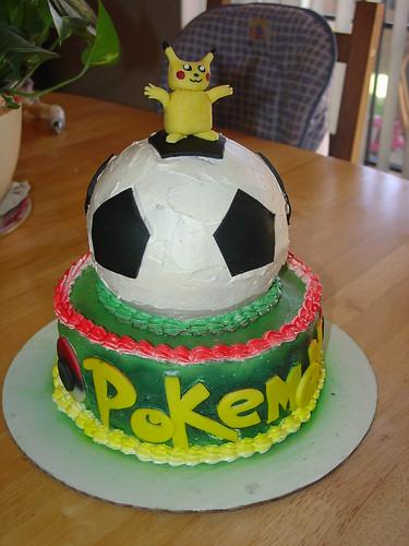 soccer ball cake. pokemon soccer ball cake