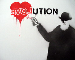 EVOL-ution - by KrieBeL (_Kriebel_) Tags: street london art by graffiti stencil belgique charles darwin evolution belgica pochoir schablone kriebel streetartbelgium belgiën kriebelized