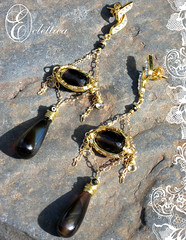 Le Vodka Expresso (Eclettica The Atlier) Tags: chains ooak earrings etsy ornate artisan day96 coiled smokeyquartz 14kgold wirewrapped project365 blackspinel imperialtopaz eclettica crafting365 ecletticatheatelier teamwireartisans polishedrootbeerchalcedony 18kgoldcubes swarovskicrystalearposts