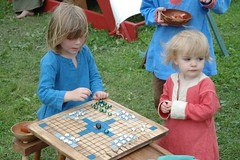 Playing the game (sirchuckles) Tags: park playing game children illinois geneva good board 2008 templar swedishday