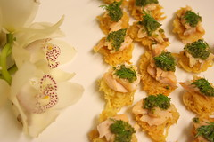 Potato rosti with smoked trout and salsa verde (Lodge Catering) Tags: verde potato trout salsa smoked canape rosti