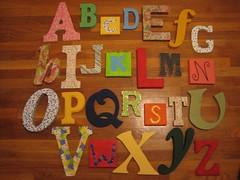 alfabeto de letras de guardería