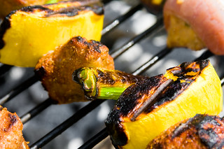 Kabob Crazy! Pork and Mango Skewers