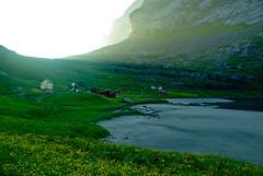 Midnight sun (Marcus Ramberg) Tags: sun norway valley midnight lofoten sunscape