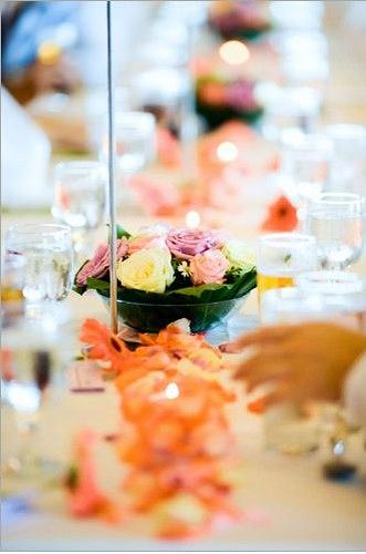 Indoor buffet table decor