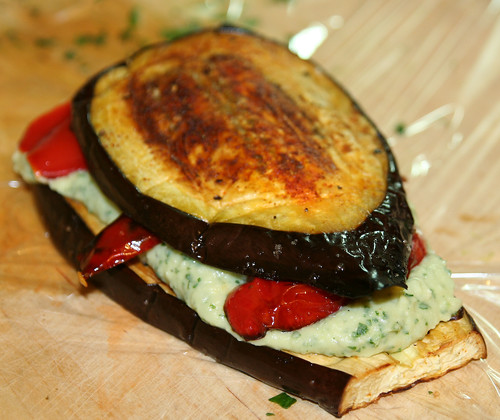 Pressed Eggplant And Pepper Sandwich Recipes — Dishmaps