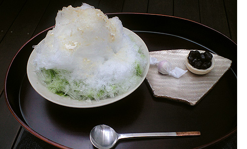 shaved ice with green tea syrup 02