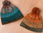 PAIR of handspun baby hats from EasterBunz (newborn sized) -4 day auction