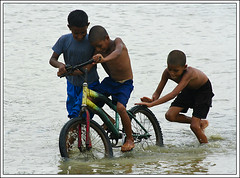 Friend, be with me. [..Narayanganj, Bangladesh..] (Catch the dream) Tags: friends water bicycle fun cycling friend asia friendship ripple bongo joy lifestyle wave help assist push trio splash intimate bengal bangladesh bangla intimacy impossible bengali bangladeshi friendshipday bangali saarc friendshipday2008 gettyimagesbangladeshq2