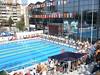 Flags around the Tašmajdan pool in Beograd 2008 (morshus) Tags: swimming serbia cc belgrade beograd tašmajdan tasmajdan svimjing 2012resolution