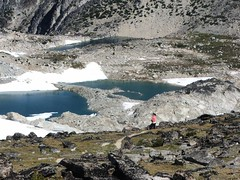Isolation Lake - three moraines visible separating the lakes