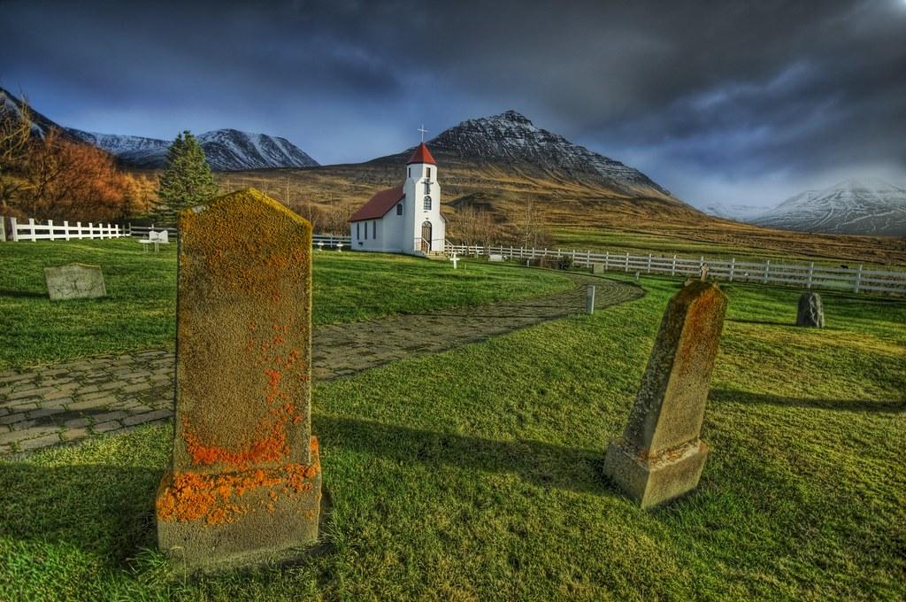 The Orange Mold on the Churchyard Tombstones